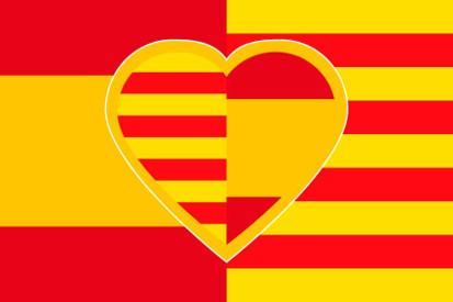 Bandera Corazón español-catalan