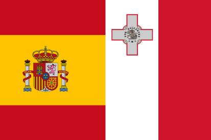 Bandera España y Malta