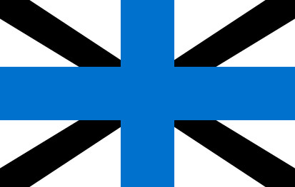 Bandera Naval Jack of Estonia