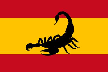 Bandera España alacrán