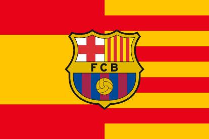 Bandera España Cataluña FC Barcelona