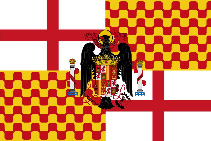 Bandera Tabarnia con águila