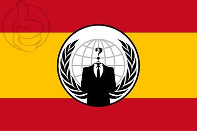 Drapeau Anonymous Espagne