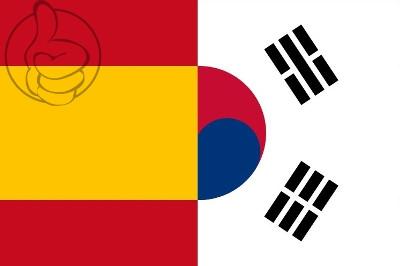 Bandera España vs Korea del Sur