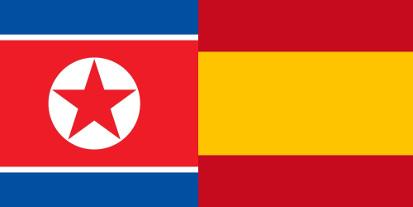 Bandera España vs Korea del Norte