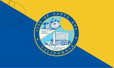 Bandera Santa Ana, California