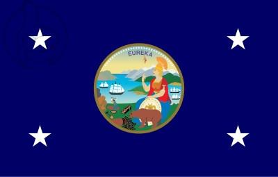 Bandera Estandarte del gobernador de California