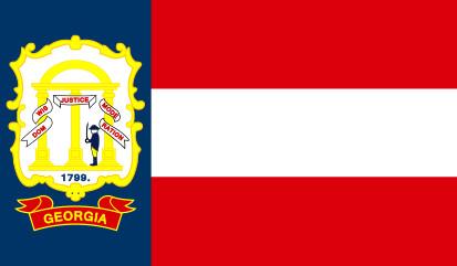 Bandera Estado de Georgia (1906-1920)