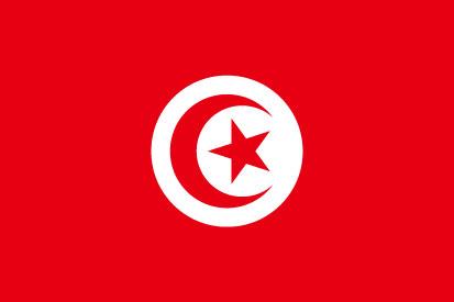 Bandera Tunísia