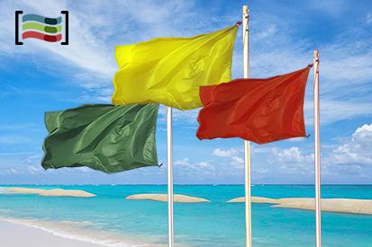 Bandera Paquete tres banderas playa