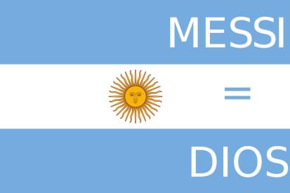 Argentina, Messi = Dios personalizada