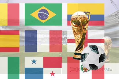 Bandera Pack drapeaux Coupe du monde de football de 2018
