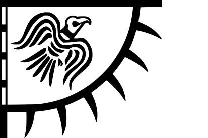 Bandera Estandarte del cuervo