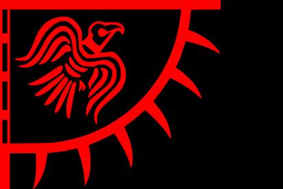 Bandera Estandarte del cuervo rojo