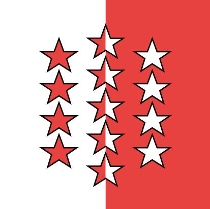 Bandera Cantón de Valais