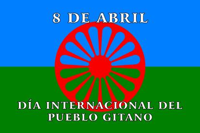 Bandera Gitana 8 de Abril