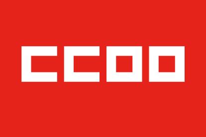 Bandera CCOO roja