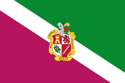 Bandera Berja con escudo