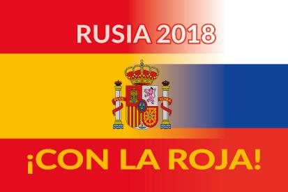 Bandera Mundial 2018 con la roja
