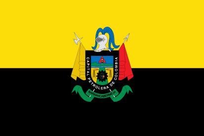 Bandera Barrancabermeja con escudo