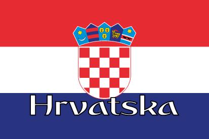 Bandera Nome da Croácia