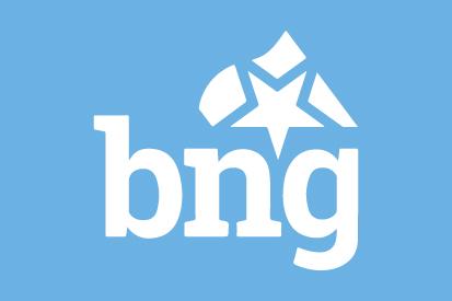 Bandera BNG azul