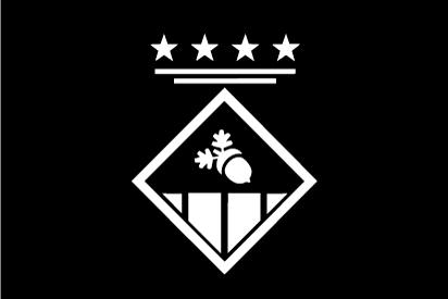 Bandera Sant Esteve de les Roures negra