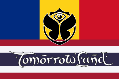 Bandera TomorrowLand Rumania Tailandia