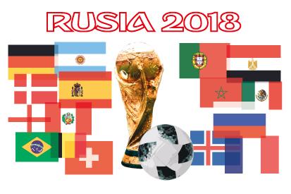 Bandera Rusia 2018 copa