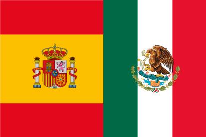 Achetez Le Drapeau De España México Acheterdrapeauxcom