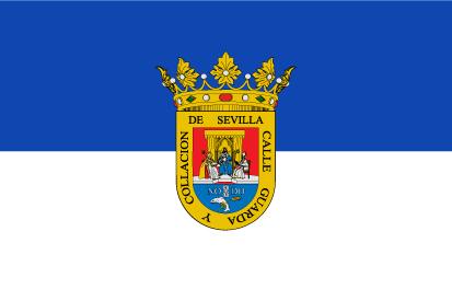 Bandera Alcalá del río con escudo