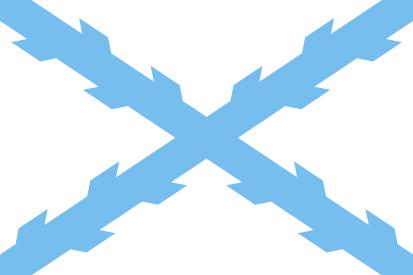 Bandera Cruz de Borgoña celeste