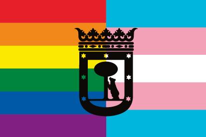 Bandera LGTBI Trans Madrid