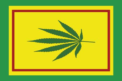 Bandera Hoja de Cannabis