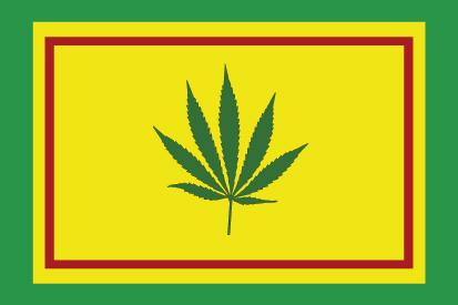Bandera Hoja Cannabis 2