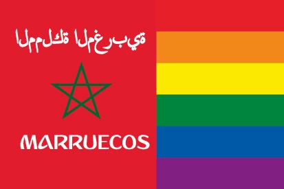 Bandera Marruecos LGTB