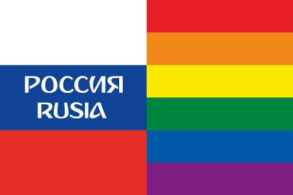 Bandera Rusia LGTB