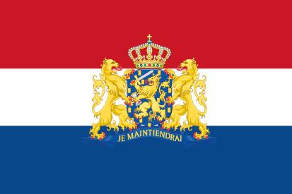 Drapeau Pays-Bas avec bouclier