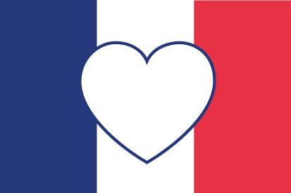 Drapeau Coeur de France