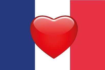 Bandera Francia Corazón 2