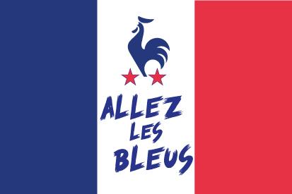 Bandera France Allez les bleus
