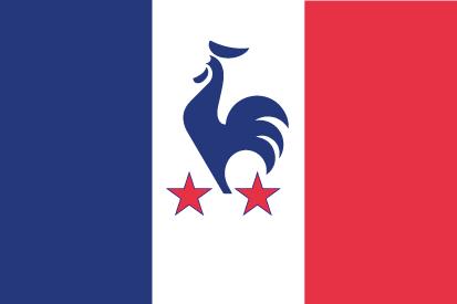 Bandera France le coq