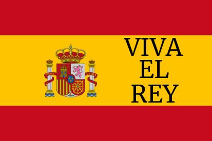 Bandera España Viva el Rey