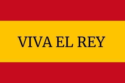Bandera España Viva el Rey 2