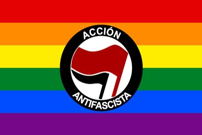 Bandera Acción Antifascista Gay