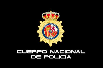 Bandera Policía Nacional Negra