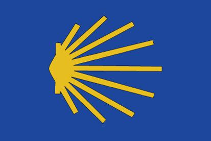 Bandera Estrella camino de Santiago