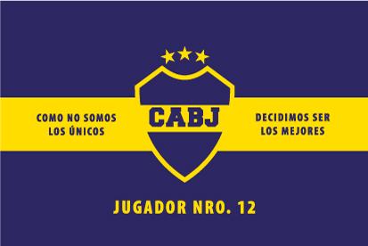 Bandera Boca Juniors exterior