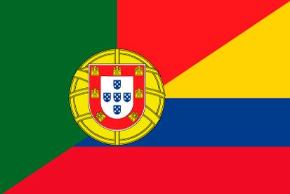 Bandera Portugal Colombia