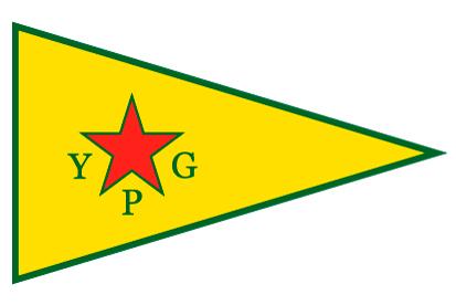 Bandera YPG Kurdistán